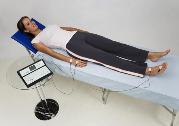 Messung des Körperanteils von Wasser, Fett und Muskeln