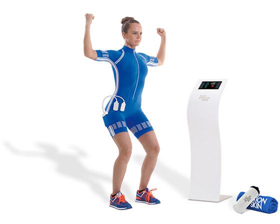 EMS Training kabellos mit MotionSkin Anzug