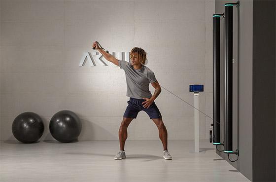 SINTESI Fitnessgeraet Montage an der Wand